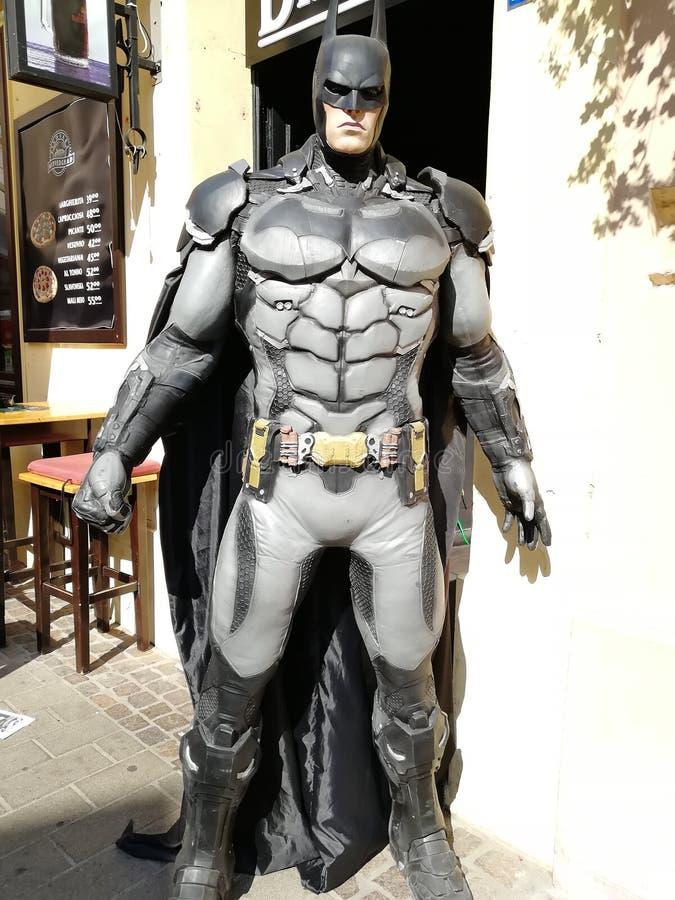 蝙蝠侠在萨格勒布 克罗地亚 库存图片