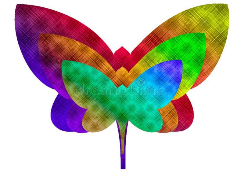 蝴蝶传染媒介设计 皇族释放例证