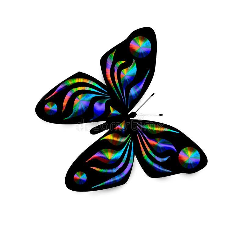 蝴蝶例证彩虹 向量例证
