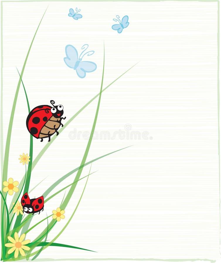 蝴蝶例证瓢虫 向量例证
