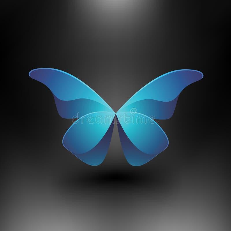蝴蝶发光的向量 库存例证