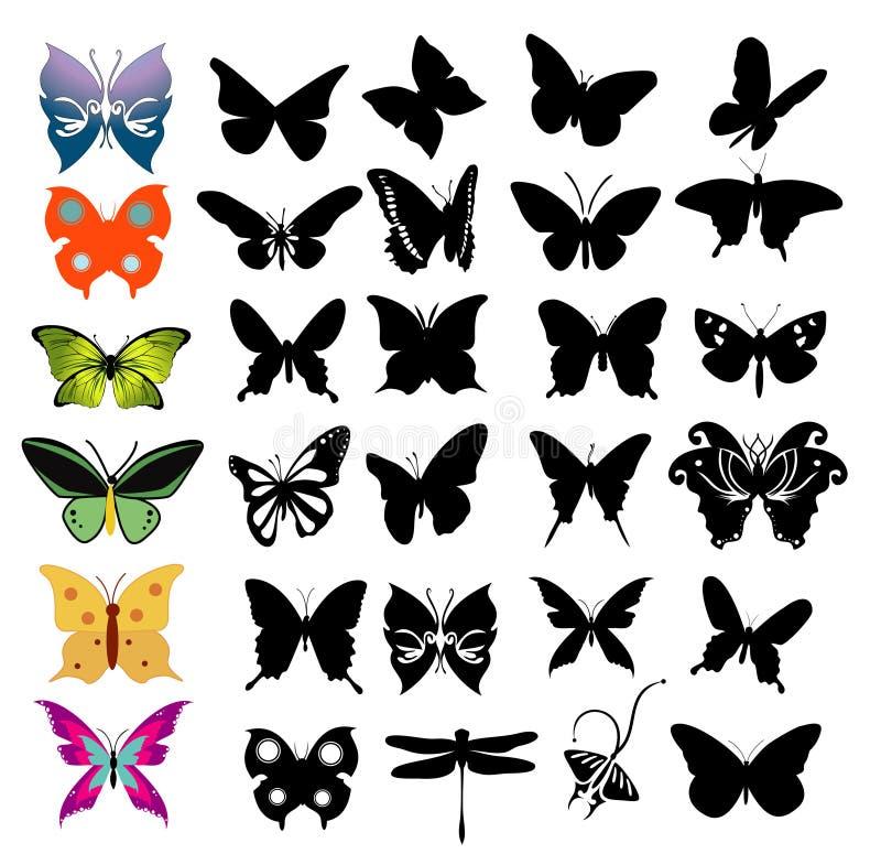 蝴蝶向量 库存例证