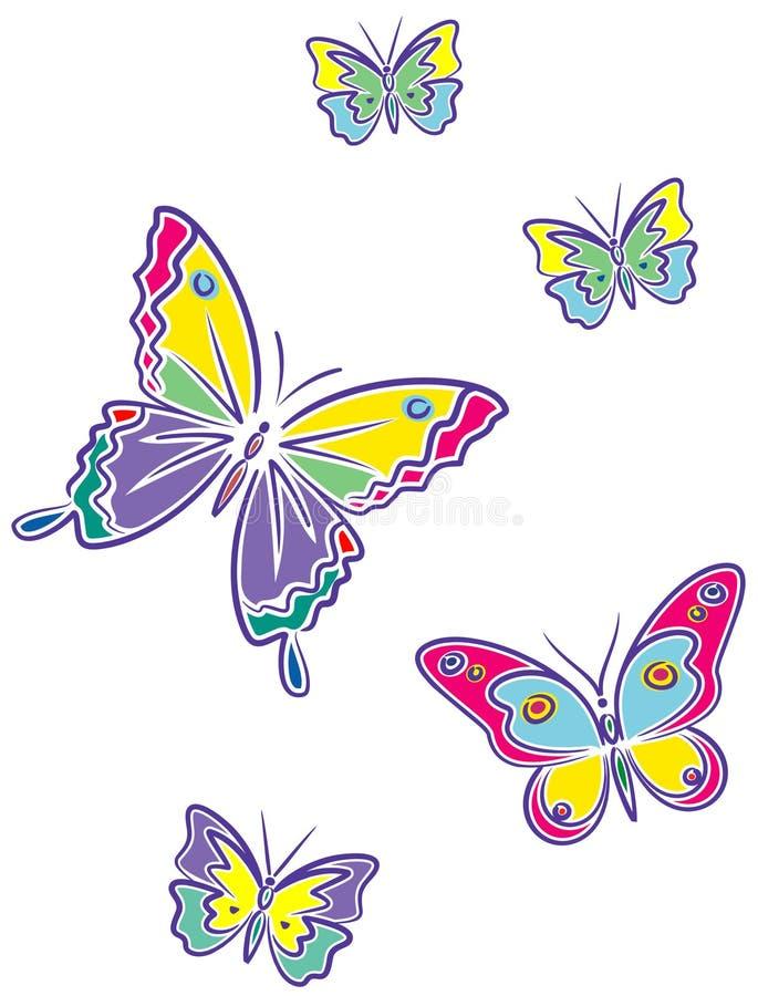 蝴蝶向量 皇族释放例证