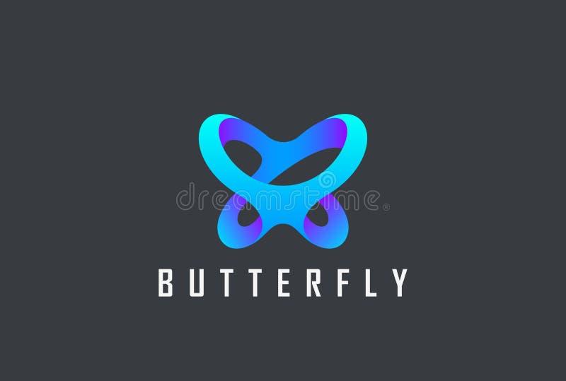 蝴蝶商标摘要秀丽的C设计传染媒介 向量例证