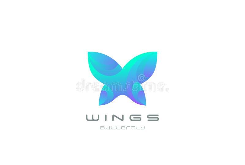蝴蝶商标摘要秀丽的C设计传染媒介 皇族释放例证