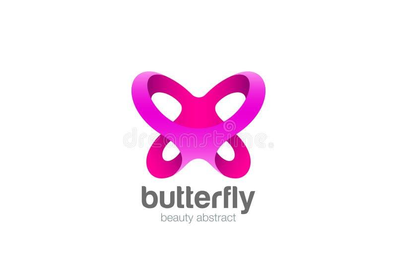 蝴蝶商标摘要秀丽的C设计传染媒介 库存例证