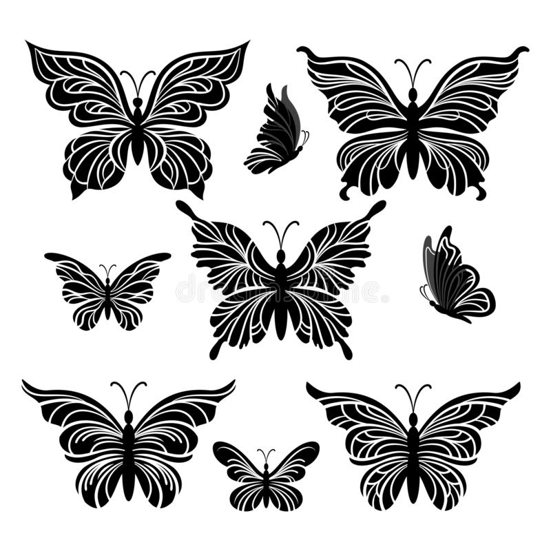 蝴蝶图表 皇族释放例证