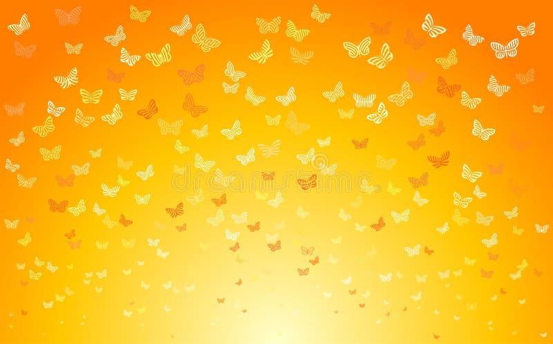 蝴蝶夏天 向量例证
