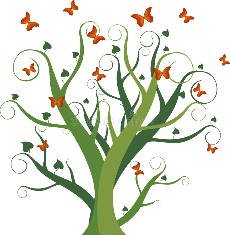 蝴蝶季节 皇族释放例证