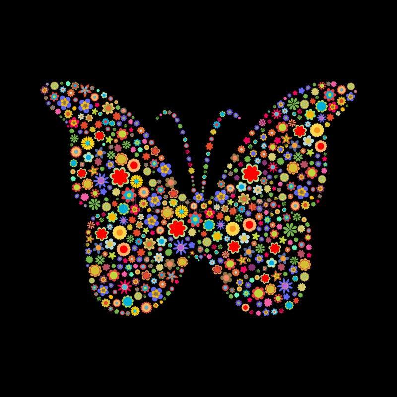 蝴蝶形状 皇族释放例证