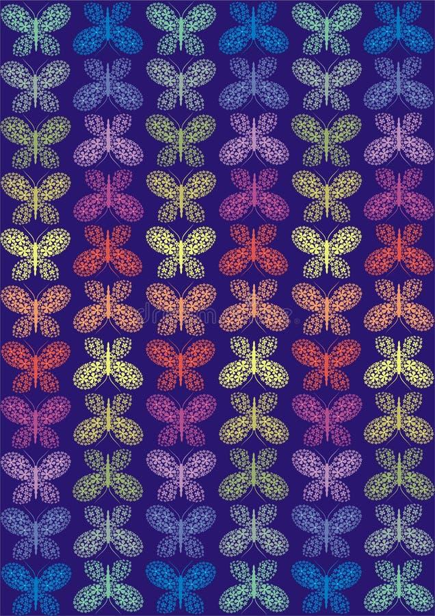 蝴蝶彩虹 向量例证
