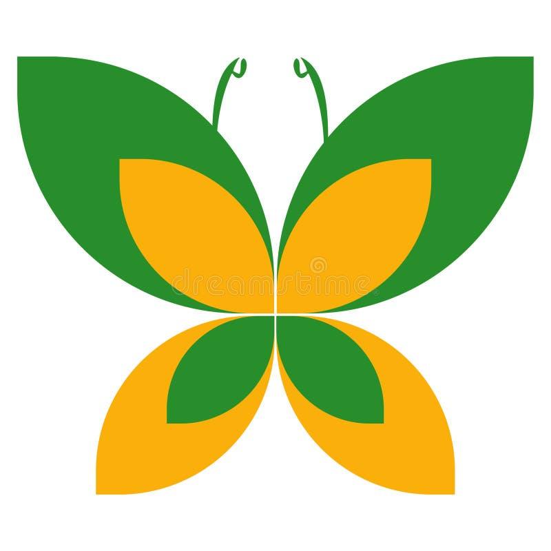 蝴蝶徽标 免版税图库摄影