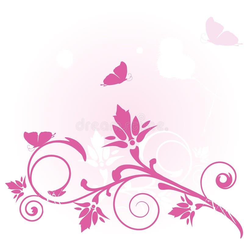 蝴蝶拟订花卉 向量例证