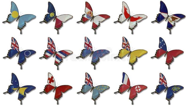 蝴蝶拼贴画标记大洋洲 皇族释放例证