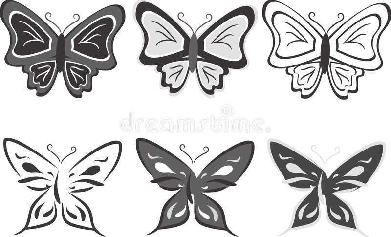 蝴蝶收集例证向量 皇族释放例证