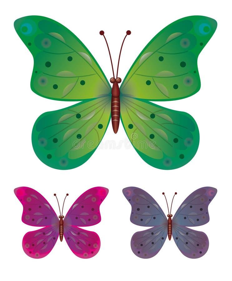 蝴蝶收集 皇族释放例证