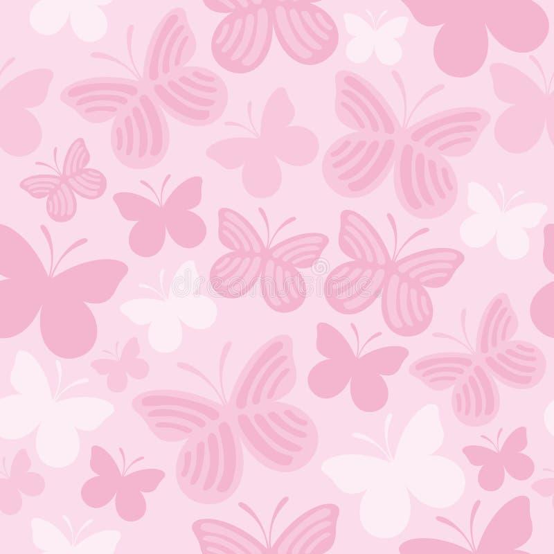 蝴蝶无缝的模式 库存例证