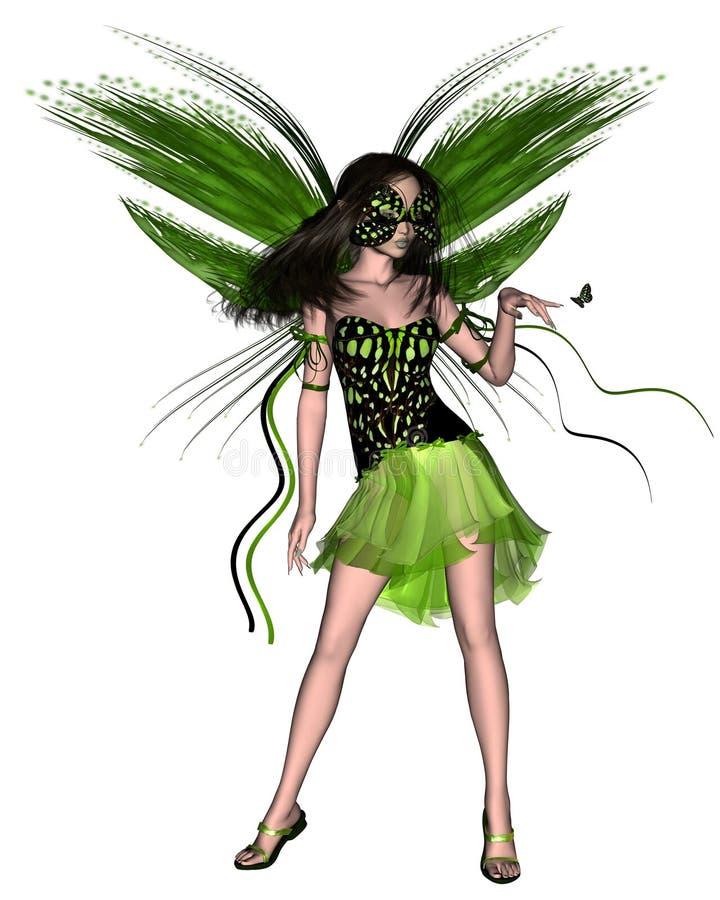 蝴蝶神仙的绿色 库存例证