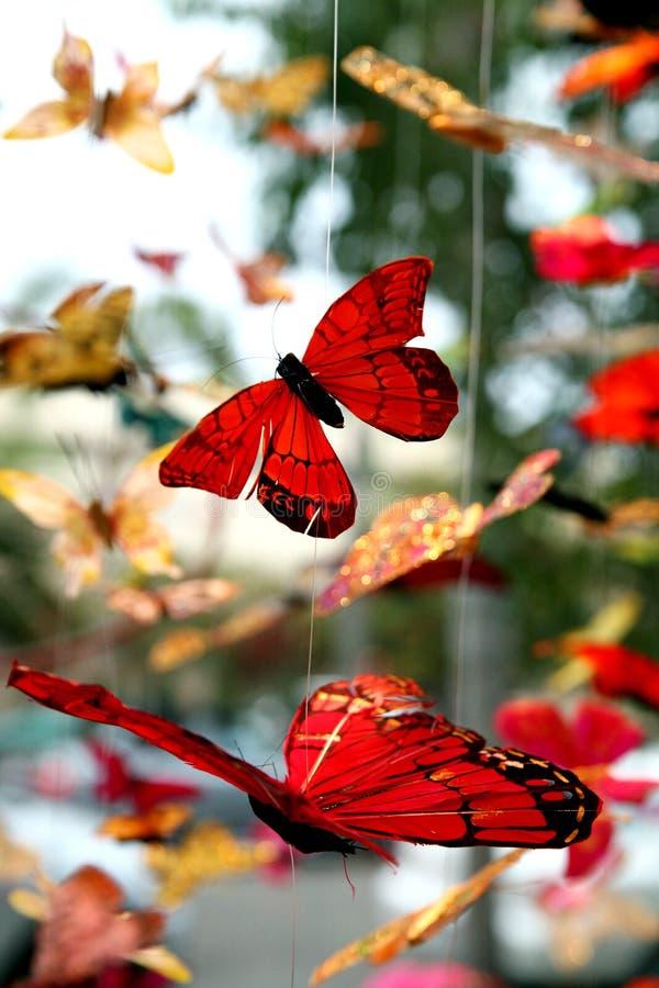 蝴蝶移动电话 库存照片