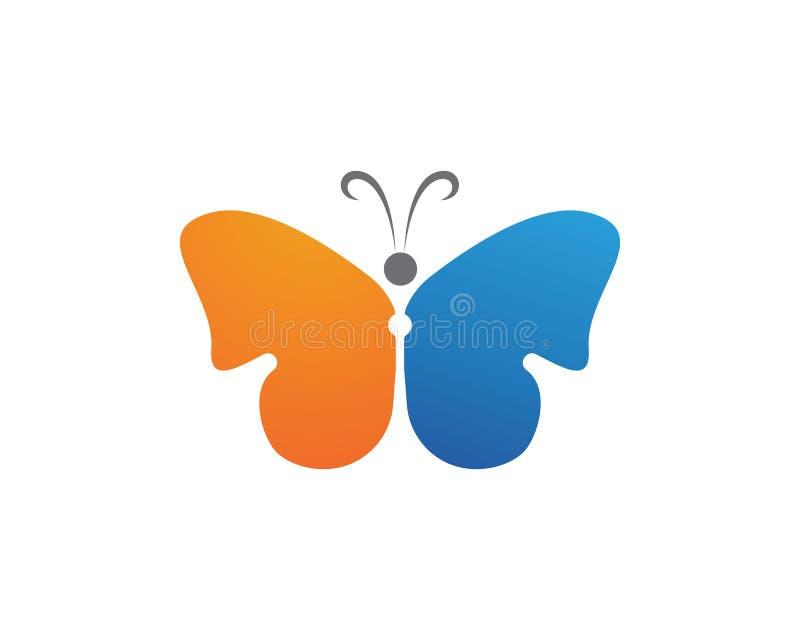 蝴蝶简单秀丽的商标,五颜六色的象 徽标 传染媒介Illust 库存例证