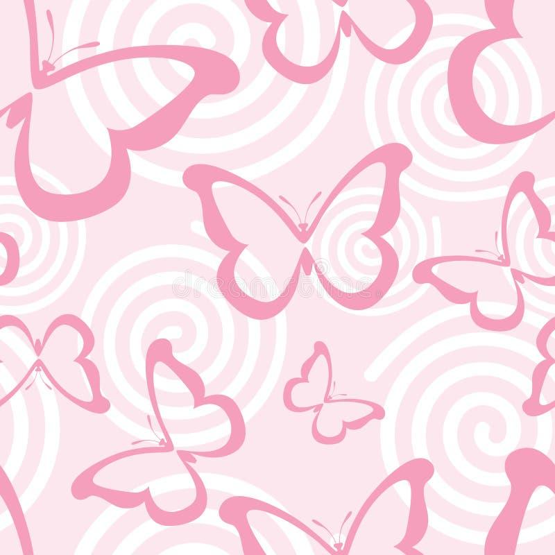 蝴蝶粉红色 向量例证