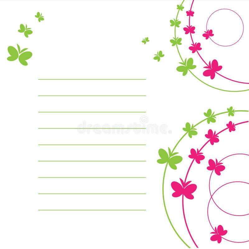 蝴蝶纸页 库存例证