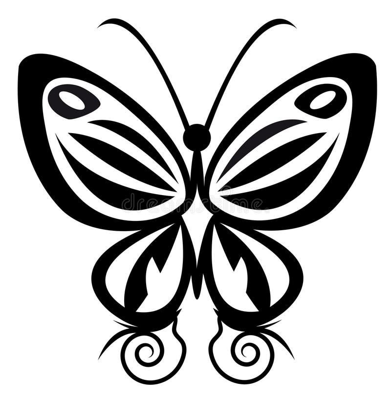 蝴蝶纹身花刺 皇族释放例证