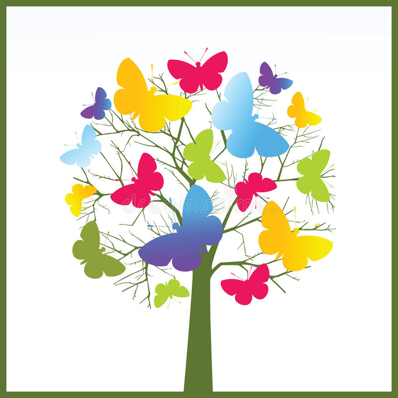 蝴蝶结构树 皇族释放例证
