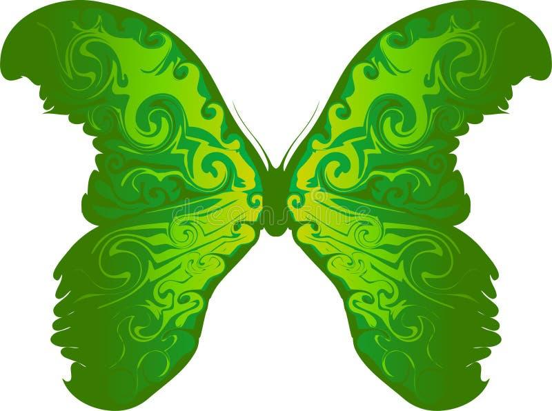 蝴蝶绿色 向量例证