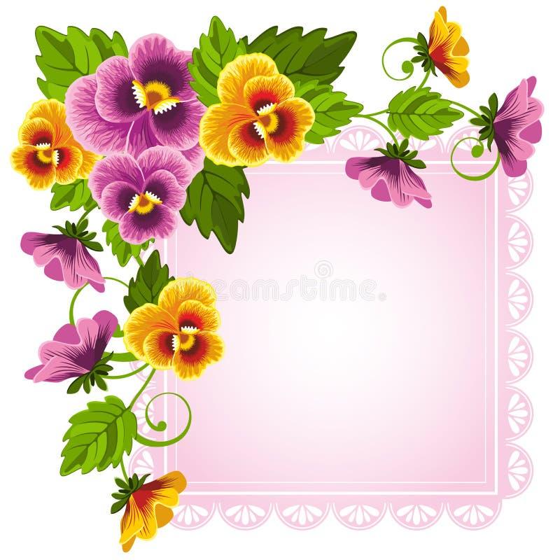 蝴蝶花 向量例证