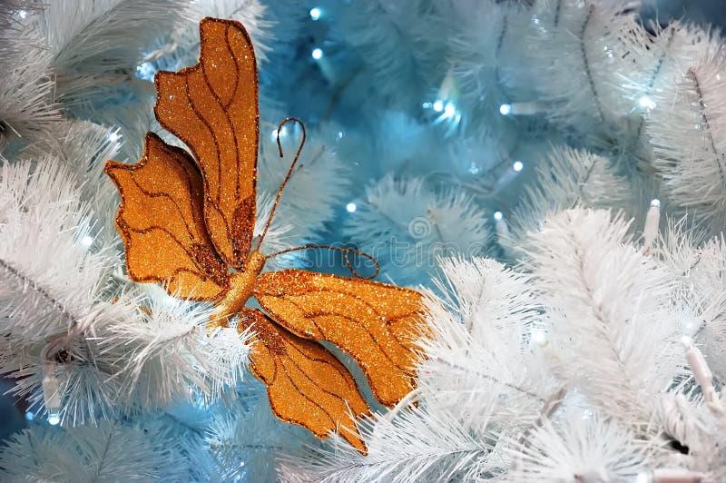 蝴蝶装饰金子 图库摄影