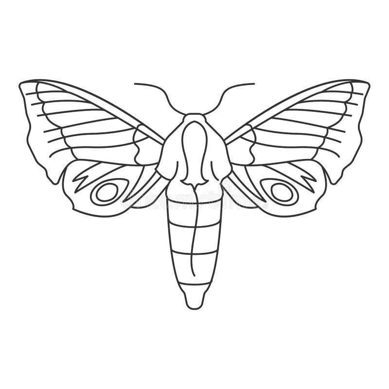 蝴蝶象 简单的元素例证 蝴蝶从昆虫汇集集合的标志设计 能用于网和机动性 皇族释放例证
