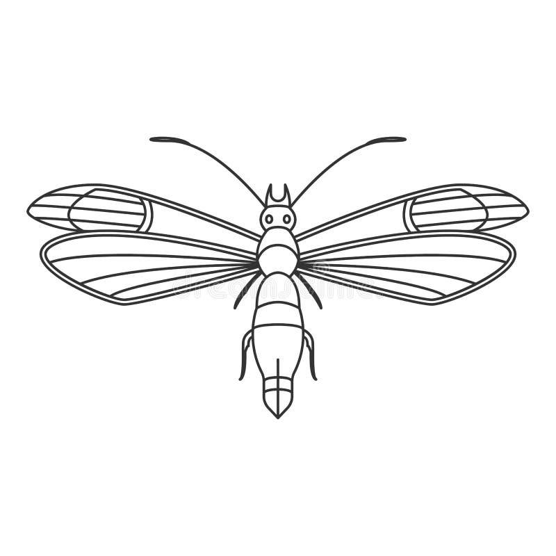 蝴蝶象 简单的元素例证 蝴蝶从昆虫汇集集合的标志设计 能用于网和机动性 向量例证