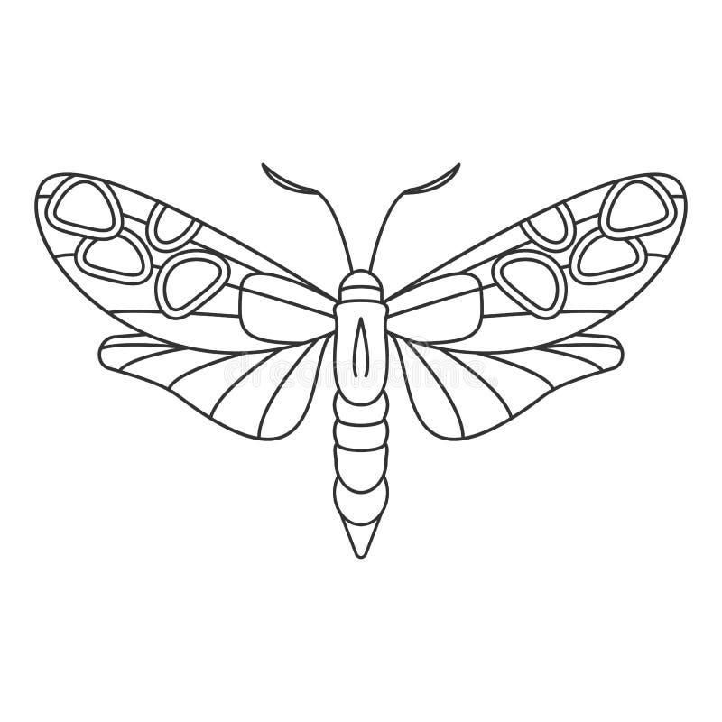 蝴蝶象 简单的元素例证 蝴蝶从昆虫汇集集合的标志设计 能用于网和机动性 库存例证
