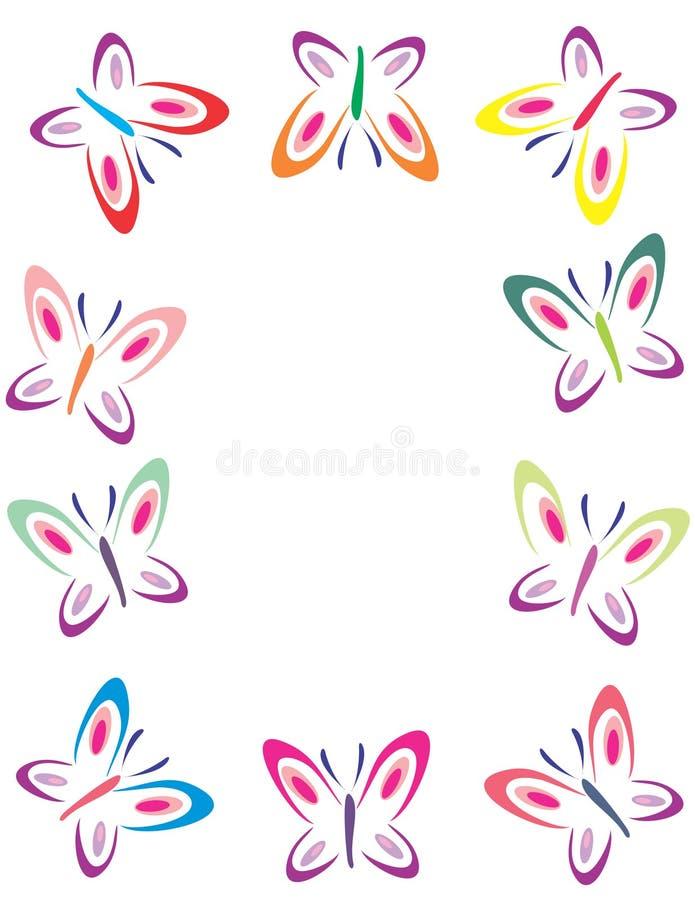 蝴蝶颜色框架 皇族释放例证