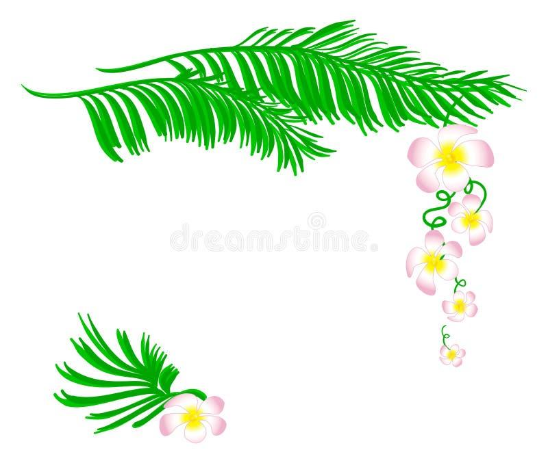 蝴蝶下落花卉花重点模式黄色 向量例证
