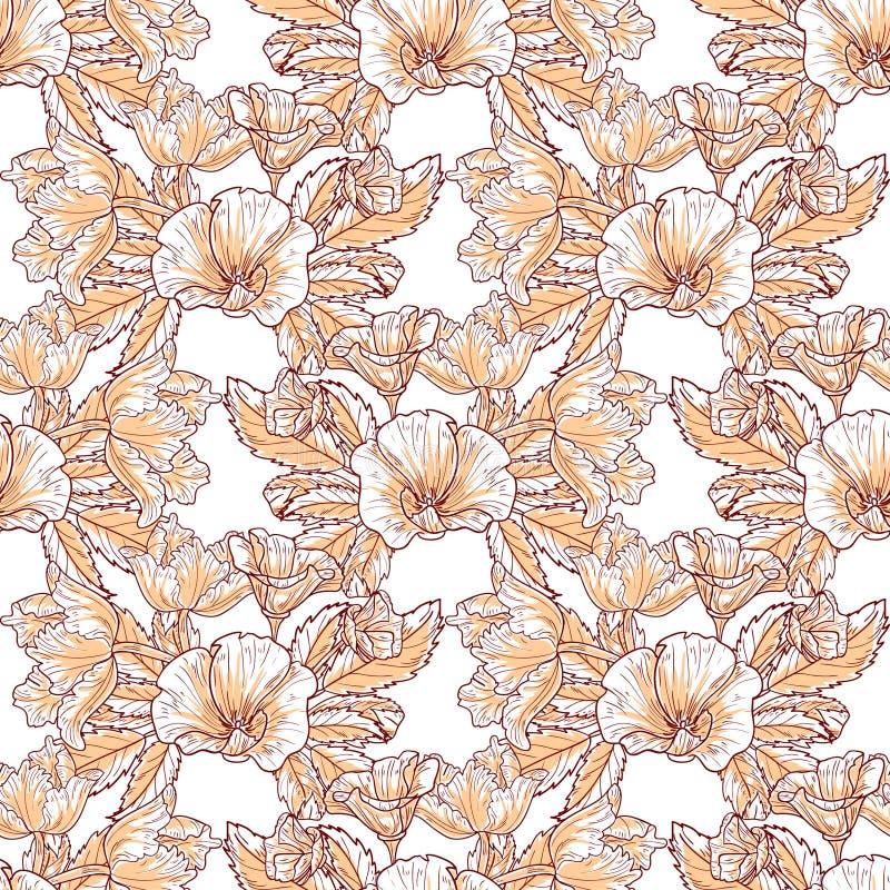 蝴蝶下落花卉花重点模式黄色 图库摄影