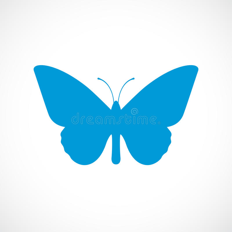 蝴蝶剪影传染媒介象 向量例证