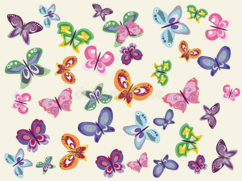 蝴蝶成套工具 免版税图库摄影