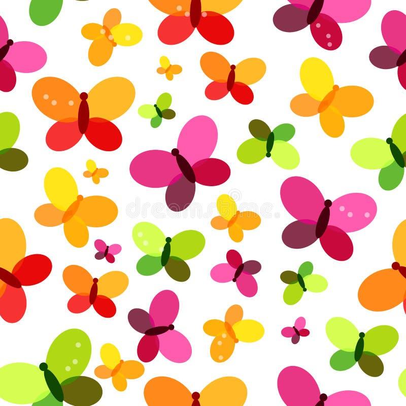 蝴蝶无缝的样式背景传染媒介例证 库存例证