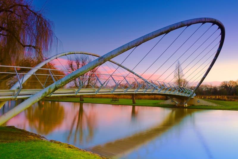 蝴蝶桥梁在贝得福得,英国 库存图片