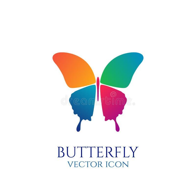 蝴蝶概念性象 徽标 向量例证