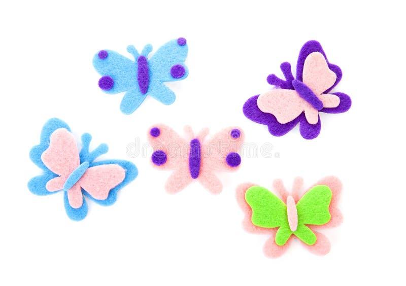 蝴蝶由毛毡制成 图库摄影