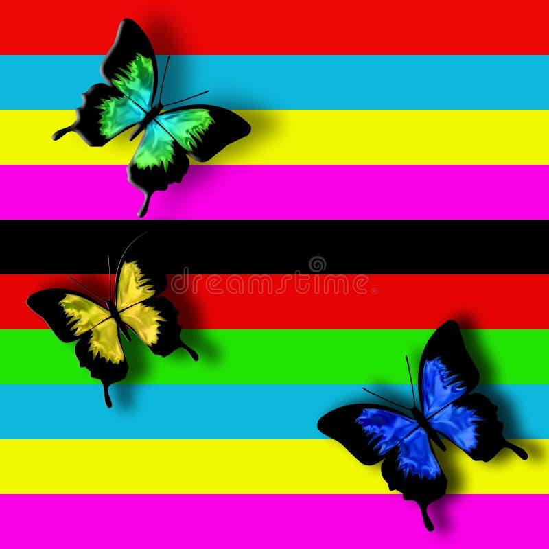 蝴蝶的反射 向量例证