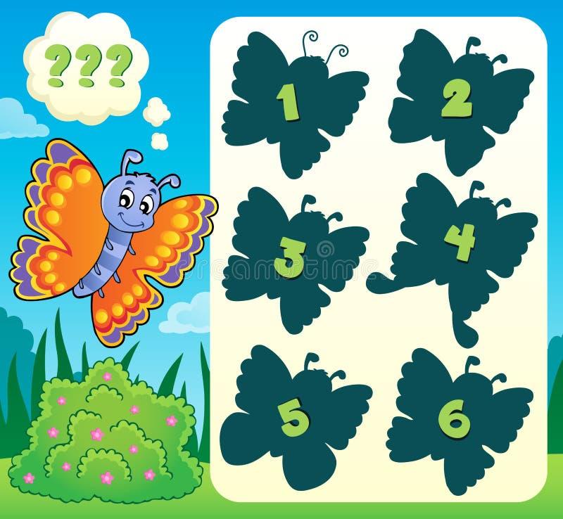 蝴蝶谜语题材图象1 库存例证