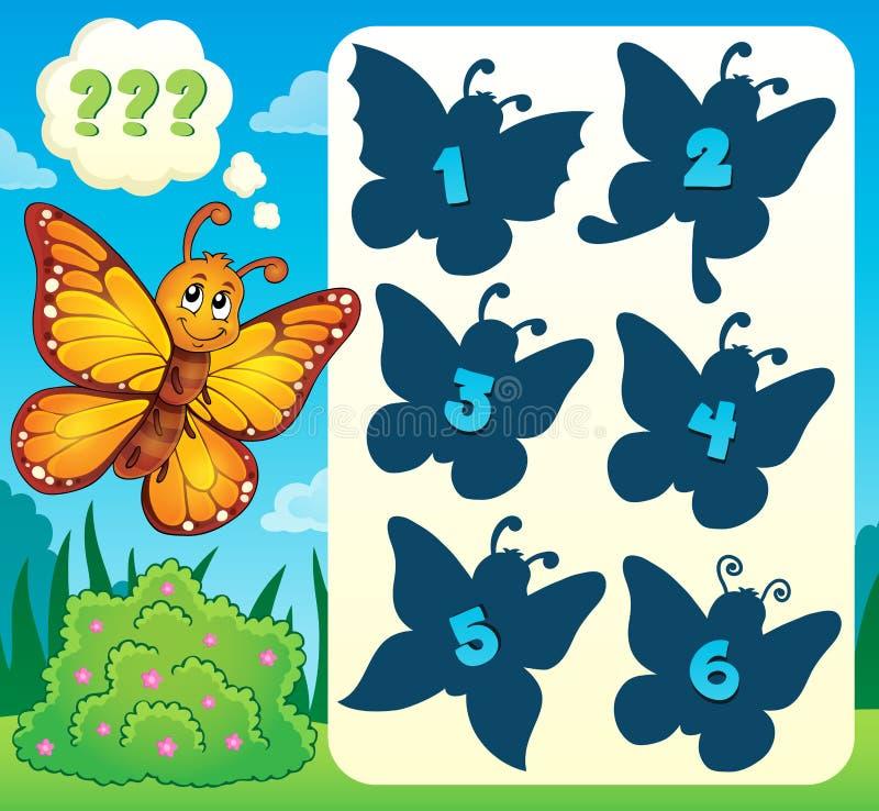 蝴蝶谜语题材图象4 皇族释放例证