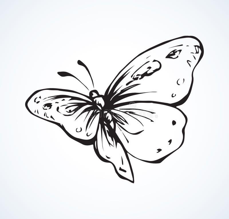 高杂文设计样式笔的概述贷方手拉的图片商标在与空间的纸文本的 蝴蝶