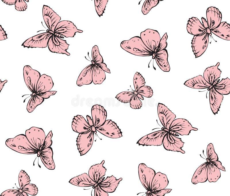 样式笔的徒手画的线性贷方手拉的商标在纸 看法接近在轻的天空 蝴蝶