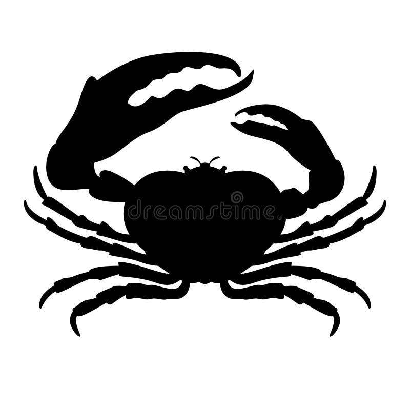 螃蟹传染媒介例证前方黑色剪影 皇族释放例证