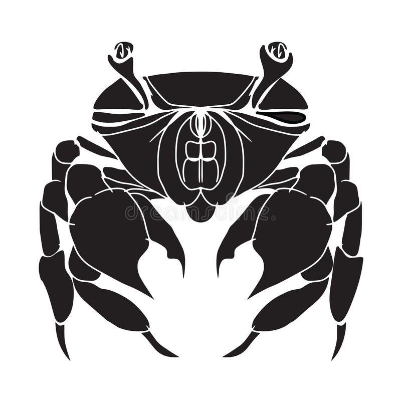 螃蟹剪影 皇族释放例证